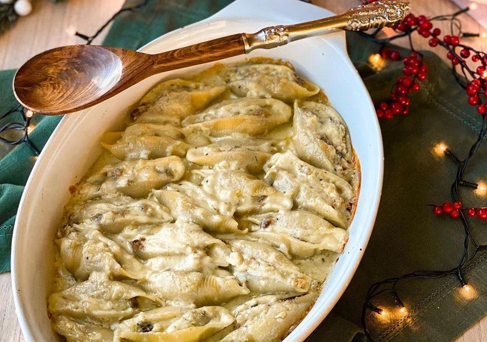 Conchiglione de Figo com nozes ao Molho de Gorgonzola