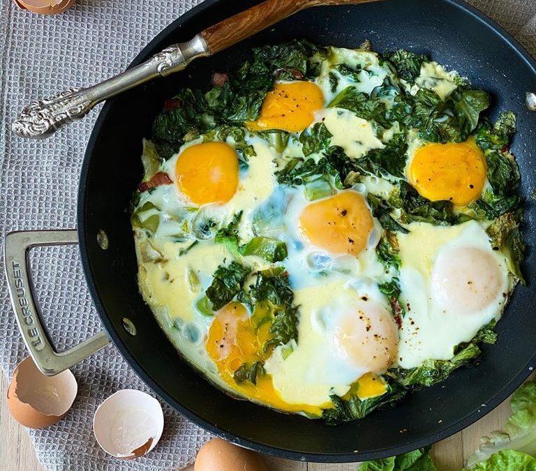 ovos com escarola