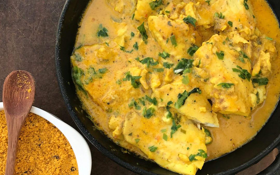 Tilápia ao Curry